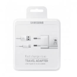 Samsung Original Chargeur EP-TA20EBE + Cable Type C EP-DG970 Blister Blanc Pour