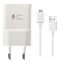 Samsung Original Adaptateur Secteur Rapide EP-TA20 5V 2A + Câble Micro USB EP-DG925 Blanc Pour